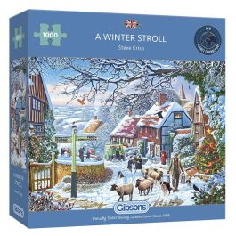 Gibsons Jigsaw A Winter Stroll 1000 Piece Puzzle