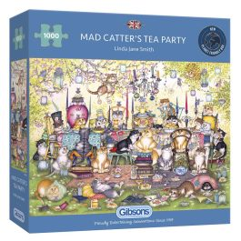 Gibsons Jigsaw Mad Catter's Tea Party 1000 Piece Puzzle