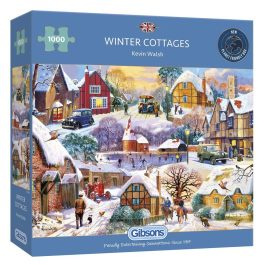 Gibsons Jigsaw Winter Cottages 1000 Piece Puzzle